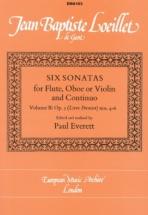 Loeillet J. B - Six Sonatas Op. 5 Vol. 2 - Hautbois (violon, Flute) Et Bc