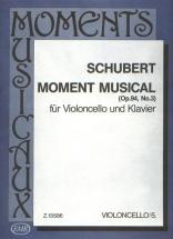 Schubert F. - Moment Musical Op.93 N 3 - Violoncelle Et Piano