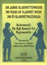 High Romantic Era - Clarinet And Piano