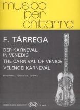 Tarrega F. - Carnavale Di Venezia - Guitare