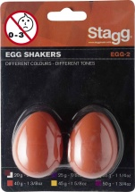 Stagg Paire Shaker Oeuf Plastique Egg-2 Or