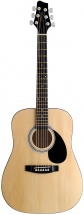 Stagg 3/4 Dreadnought Ac.gt.-natural