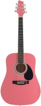 Stagg 3/4 Dreadnought Ac.gt.-pink