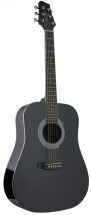 Stagg 3/4 Dreadnought Ac.gt.-black