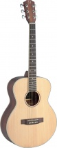 Jn Guitars Asy-a Mini Travel Ac.gt-solid Spruce/maho
