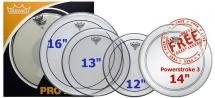 Remo Pp-0312-ps - Propack Pinstripe Transparente 12 13 16 + Powerstroke Iii 3 Sablee 14