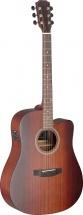 Jn Guitars Dev-dcfi Bbst E/a Dread Gt Cw-sld Maho/maho
