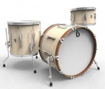 British Drum Co Lounge Club Stage Rock 12t 16ft 22b Wiltshire White