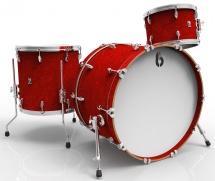 British Drum Co Legend Club Stage Rock 12t 16ft 22b Buckingham Scarlett