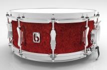 British Drum Co 14 X 5.5 Legend Buckingham Scarlett