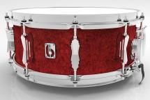 British Drum Co 14 X 6.5 Legend Buckingham Scarlett