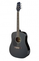 Stagg Sa20d 3/4 Lh-bk Dreadnought 3/4 Noire Gaucher