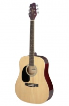 Stagg Sa20d Lh-n Dreadnought Naturelle Gaucher