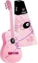 Stagg Guitare Classique 1/2 Rose Dessin Libellule