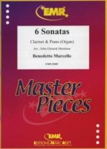 Marcello B. - 6 Sonatas - Clarinette and Piano (arr. J.g. Mortimer)