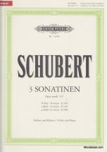 Schubert Franz - 3 Sonatinas - Violin And Piano