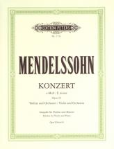 Mendelssohn Felix - Violin Concerto In E Minor Op.64 - Violin And Piano
