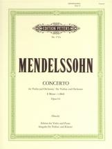 Mendelssohn Felix - Violin Concerto In E Min Op.64 - Violin And Piano