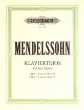 Mendelssohn Felix - Piano Trios In D Minor Op.49; C Minor Op.66 - Piano Trios