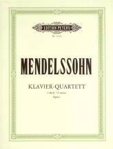 Mendelssohn Felix - Piano Quartet In C Minor Op.1 - Piano Quartets