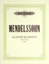 Mendelssohn Felix - Piano Quartet In F Minor Op.2 - Piano Quartets