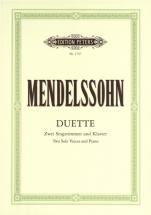 Mendelssohn Felix - 19 Duets - Voices And Piano (par 10 Minimum)