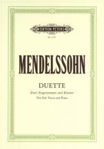 Mendelssohn Felix - 19 Duets - Voices And Piano (par 10 Minimum)