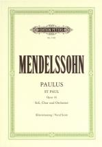 Mendelssohn Felix - St. Paul - Mixed Choir (par 10 Minimum)