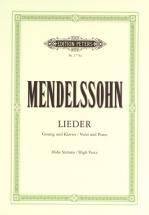 Mendelssohn Felix - Complete Songs - Voice And Piano (par 10 Minimum)