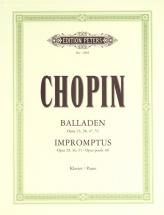 Chopin Frédéric - Ballades And Impromptus - Piano