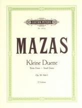 Mazas Jacques-féréol - Small Duets Op.38 Vol.i - Violin Duets