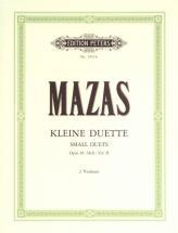 Mazas Jacques-féréol - Small Duets Op.38 Vol.ii - Violin Duets
