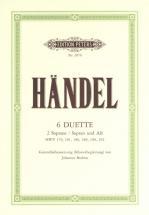 Handel George Friederich - 6 Duets - Vocal Duets/trios (par 10 Minimum)