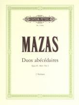 Mazas Jacques-féréol - 10 Duos Abecedaires Op.85 Vol.i - Violin Duets