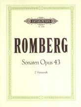 Romberg Andreas - 3 Duet Sonatas Op.43 - Cello Ensemble