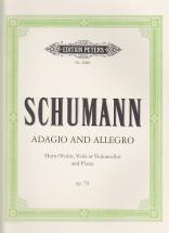 Schumann R. - Adagio Et Allegro Op.70 - Cor, Piano