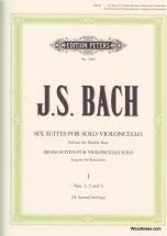 Bach Jean-sebastien - 6 Suites Vol.1 Bwv 1007/1008/1009 - Contrebasse