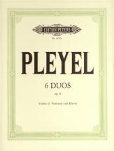 Pleyel Ignace Joseph - 6 Duos Op.8 - Violin And Piano