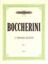 Boccherini Luigi - 3 Duets Op.5 - Violin Duets