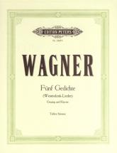 Wagner Richard - 5 Wesendonck Lieder - Voice And Piano (par 10 Minimum)