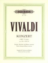 Vivaldi Antonio - Concerto In A Minor Op.3 No.6 Rv 356 - Violin And Piano