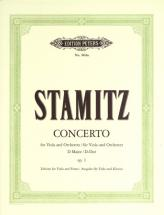 Stamitz Carl - Concerto In D Op.1 - Viola And Piano