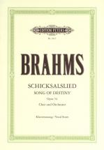 Brahms Johannes - Schicksalslied/song Of Destiny Op.54  - Mixed Choir (par 10 Minimum)