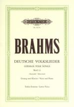 Brahms Johannes - Selection Of 20 German Folk Songs - Voice And Piano (par 10 Minimum)