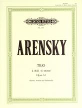 Arensky Anton Stepanovich - Trio D Min Op.32 - Violin, Cello And Piano