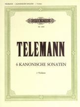 Telemann Georg Philipp - 6 Sonatas In Canon Form - Violin Duets