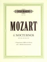 Mozart Wolfgang Amadeus - 6 Nocturnes - Mixed Ensemble