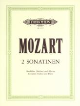 Mozart Wolfgang Amadeus - Sonatinas No.2 and 4 In B Flat K439b - Recorder