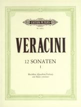 Veracini Francesco Maria - 12 Sonatas Op.1, Vol.1 - Violin And Piano
