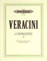 Veracini Francesco Maria - 12 Sonatas Op.1 Vol.2 - Violin And Piano